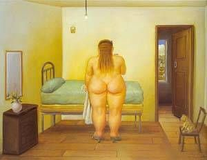 Fernando Botero - The Bedroom 1996