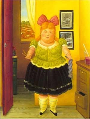 Fernando Botero - The Seamstress