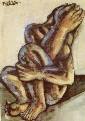 Fernando Botero - Woman Crying