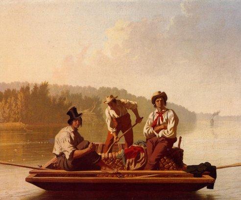 George Caleb Bingham - Boatmen on the Missouri