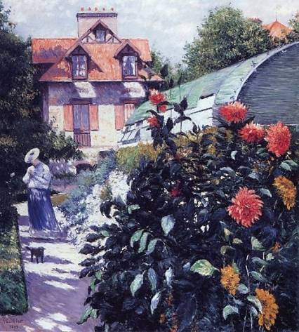 Gustave Caillebotte - Dahlias - The Garden at Petit Gennevilliers