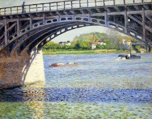 Gustave Caillebotte - The Argenteuil Bridge and the Seine