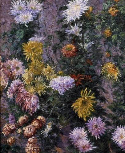 Gustave Caillebotte - White and Yellow Chrysanthemums