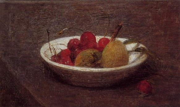 Henri Fantin-Latour - Still Life of Cherries and Almonds