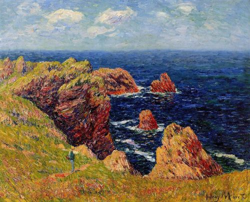 Henri Moret - Promenade on the Coastal Path