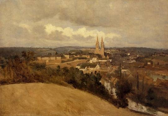 Jean-Baptiste-Camille Corot - View of Saint-Lo