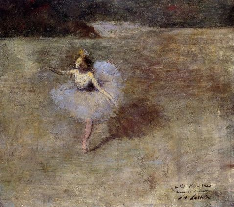 Jean-Louis Forain - Dancer in Pink Tights