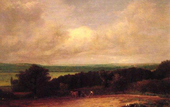 John Constable - Landscape Ploughing Scene in Suffolk