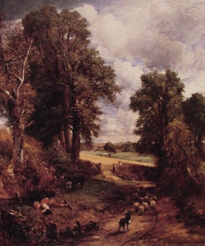 John Constable - The Cornfield