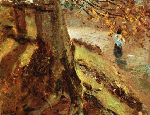 John Constable - Tree Trunks