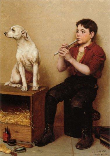 John George Brown - Music Hath No Charms