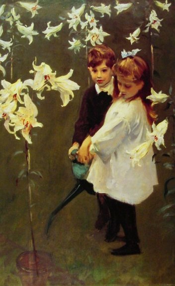John Singer Sargent - Garden-study Of The Vickers Children