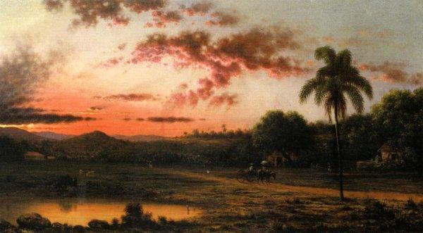 Martin Johnson Heade - Sunset - A Scene in Brazil