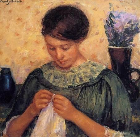 Mary Cassatt - Woman Sewing