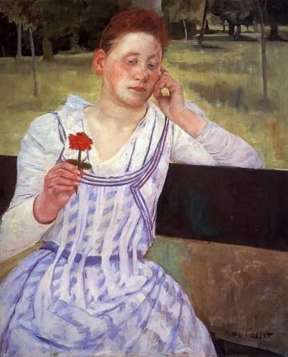 Mary Cassatt - Woman with a Red Zinnia