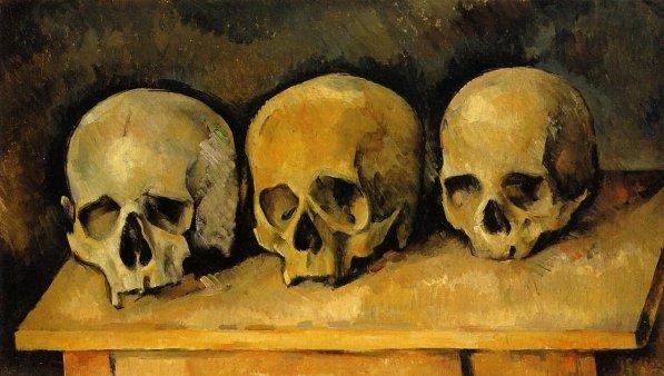 Paul Cezanne - The Three Skulls