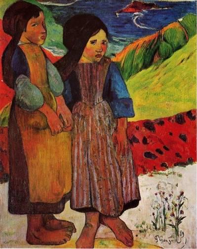 Paul Gauguin - Breton Girls by the Sea