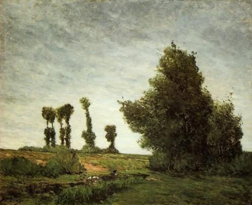 Paul Gauguin - Landscape with Poplars