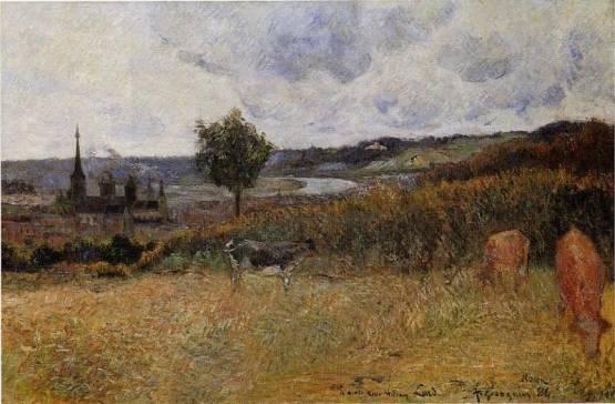 Paul Gauguin - Near Rouen 1
