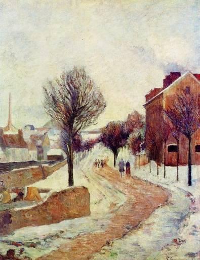 Paul Gauguin - Suburb under Snow
