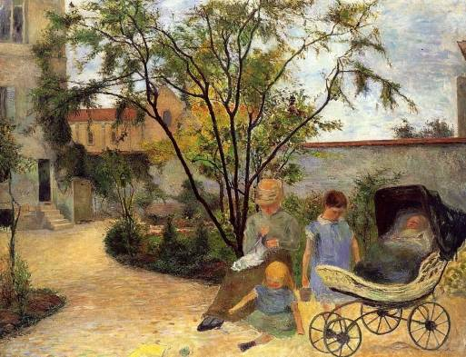 Paul Gauguin - The Family in the Garden, rue Carcel