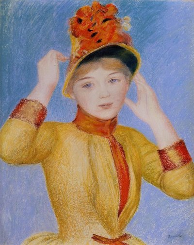 Pierre-Auguste Renoir - Bust of a Woman aka Yellow Dress