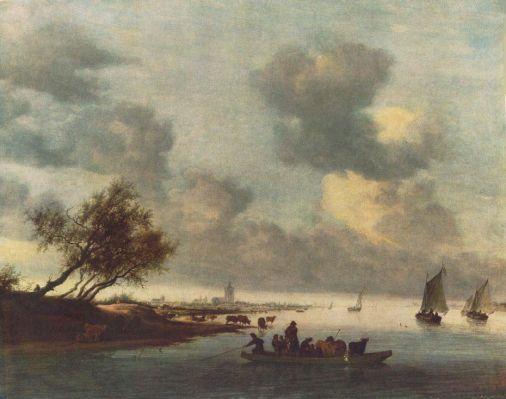 Salomon van Ruysdael - A Ferry Boat near Arnheim