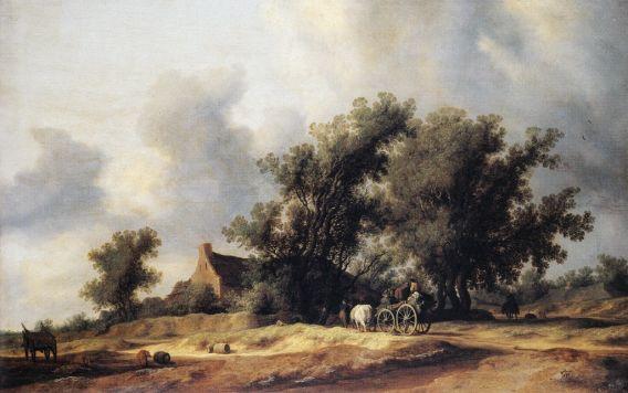 Salomon van Ruysdael - Road