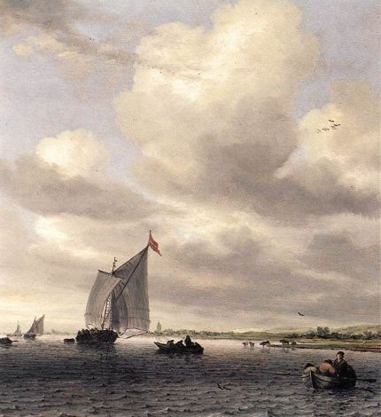 Salomon van Ruysdael - Seascape