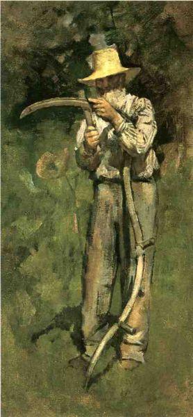 Theodore Robinson - Man With Scythe