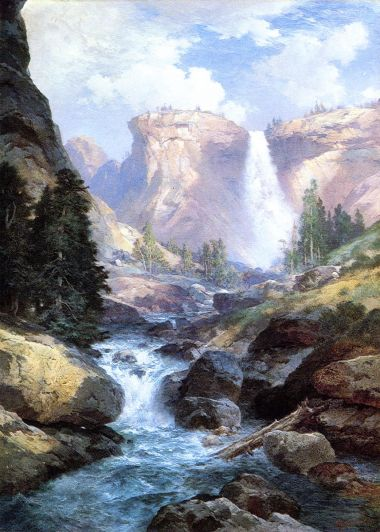 Thomas Moran - Waterfall In Yosemite 2