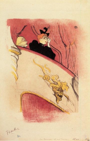 Toulouse Lautrec - The Box with the Guilded Mask