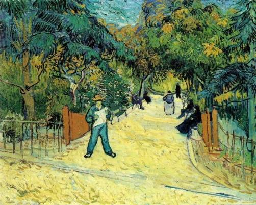 Vincent van Gogh - Entrance to the Public Garden in Arles