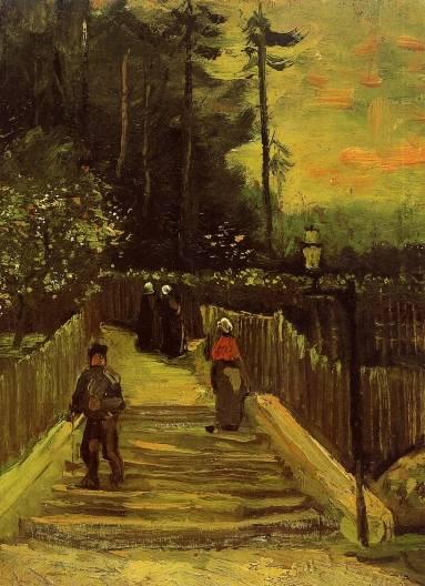 Vincent van Gogh - Sloping Path in Montmartre