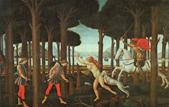 Sandro Botticelli - The Story of Nastagio degli Onesti 1