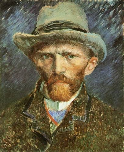 Vincent van Gogh - Self Portrait with Grey Felt Hat 1