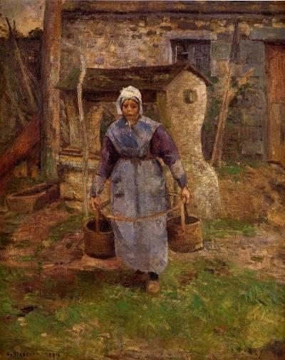 Camille Pissarro - Mother Presle, Montfoucault