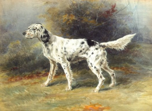 Edmund Henry Osthaus - An English Setter in A Landscape