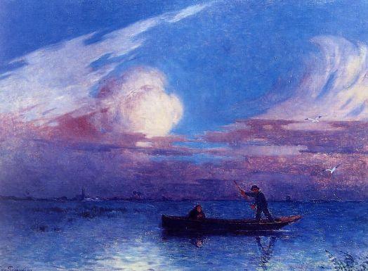 Ferdinand du Puigaudeau - Boating at Night in Briere