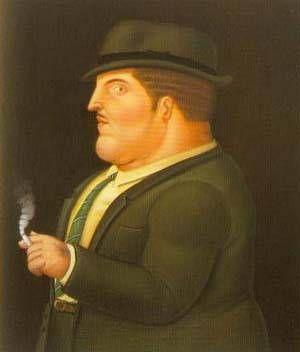 Fernando Botero - Man Smoking 1995