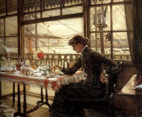James Tissot - Room Overlooking the Harbour