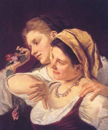 Mary Cassatt - Two Women Throwing Flowers During Carnival