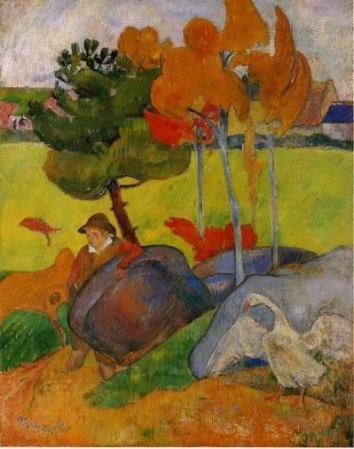 Paul Gauguin - Breton Boy in a Landscape