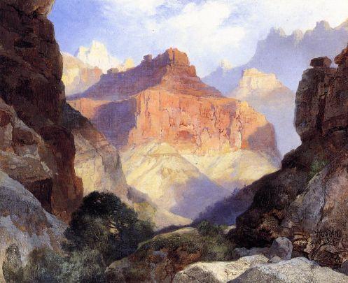 Thomas Moran - Under The Red Wall Grand Canyon Of Arizona
