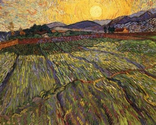 Vincent van Gogh - Enclosed Field with Rising Sun