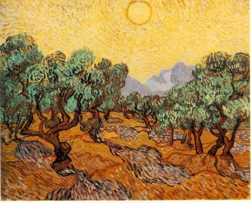 Vincent van Gogh - Olive Trees with Yellow Sky and Sun