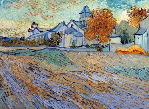 Vincent van Gogh - View of the Church of Saint Paul de Mausole