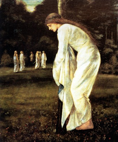 Edward Coley Burne-Jones - Saint George and The Dragon The Princess Tied to the Tree
