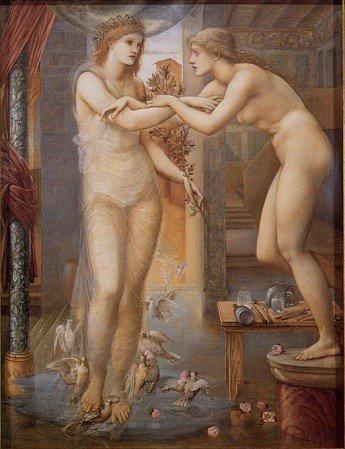 Edward Coley Burne-Jones - Pygmalion and the Image III - The Godhead Fires