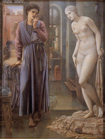 Edward Coley Burne-Jones - Pygmalion and the Image II - The Hand Refrains